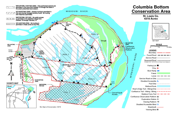 Columbia Bottom Conservation Area Map mappery
