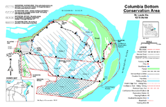 Columbia Bottom Conservation Area Map
