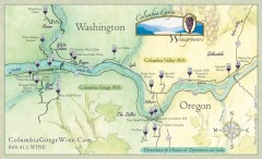 Columbia Gorge Wine Map