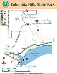 Columbia Hills State Park Map