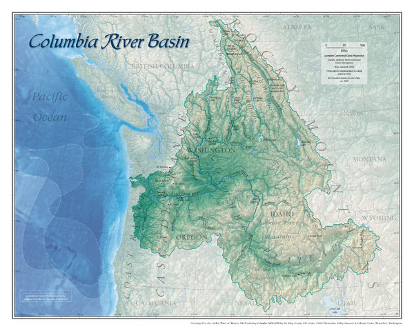 Columbia River Basin Map