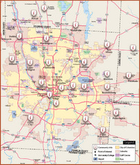Ohio State University - main campus map - 154 W 12th Avenue Columbus on