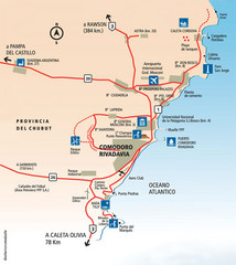 Comodoro Rivadavia Region Tourist Map