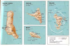 Comoros Islands Map