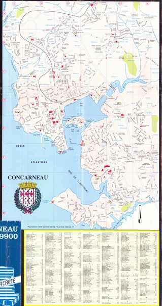 Concarneau Map