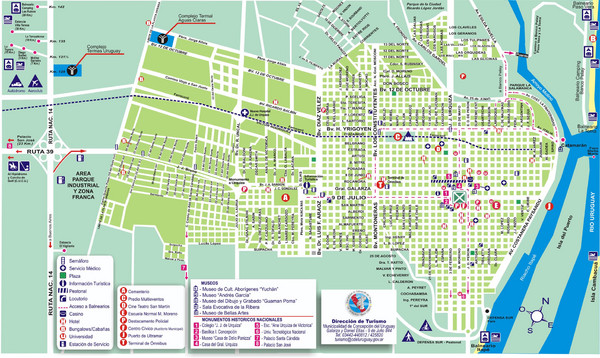 Concepcion del Uruguay Tourist Map concepcion del uruguay – Tourist Map Of Buenos Aires