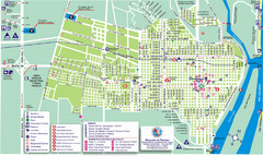 Concepcion del Uruguay Tourist Map