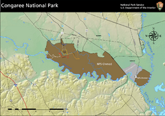 Congaree National Park Official Park Map