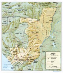 Congo Physical Relief Map