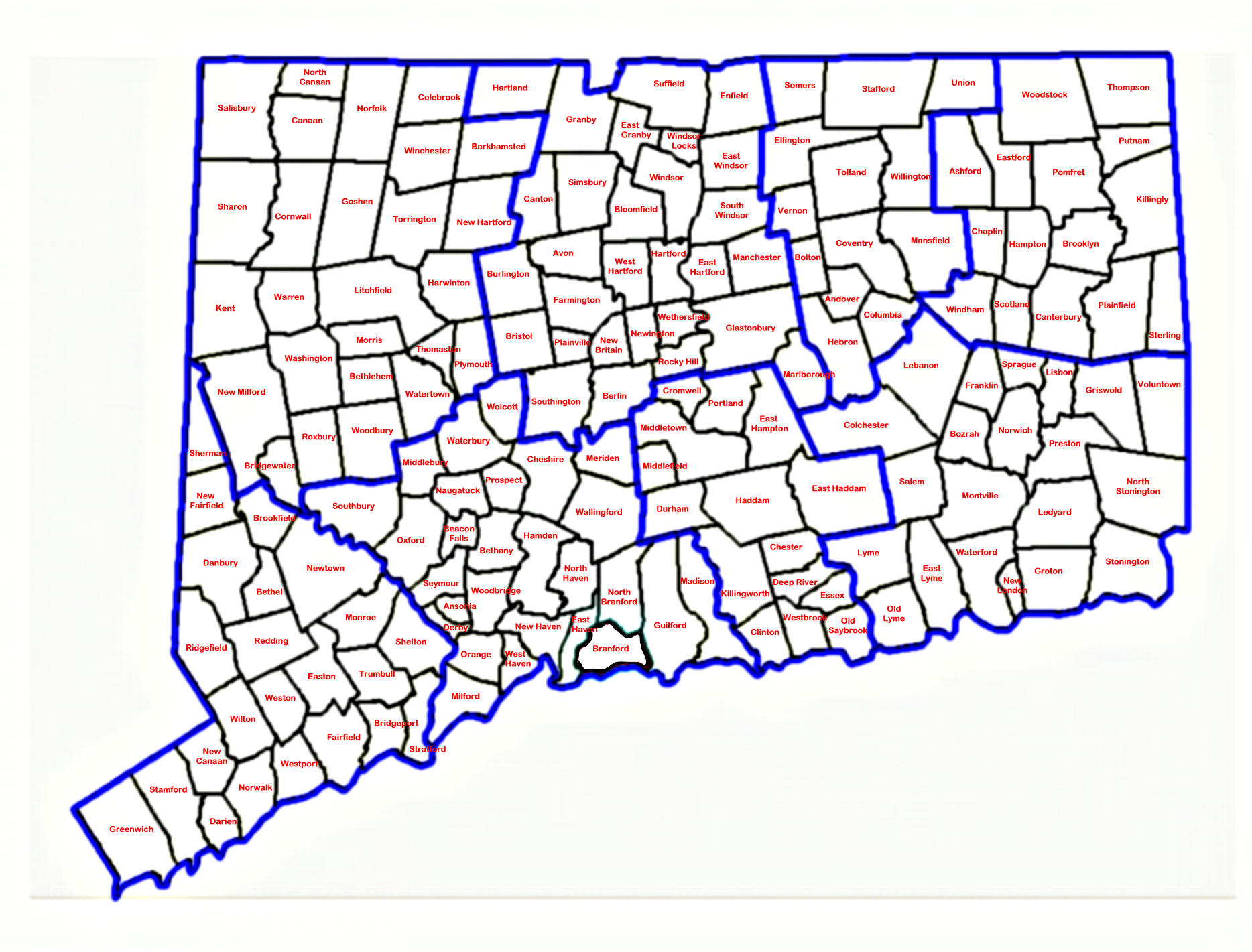 Map Of Connecticut Connecticut Maps  Mapsof
