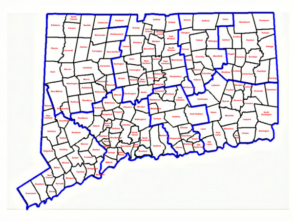 WwwmapperycommapsConnecticutTownMapmediumth - Map usa connecticut