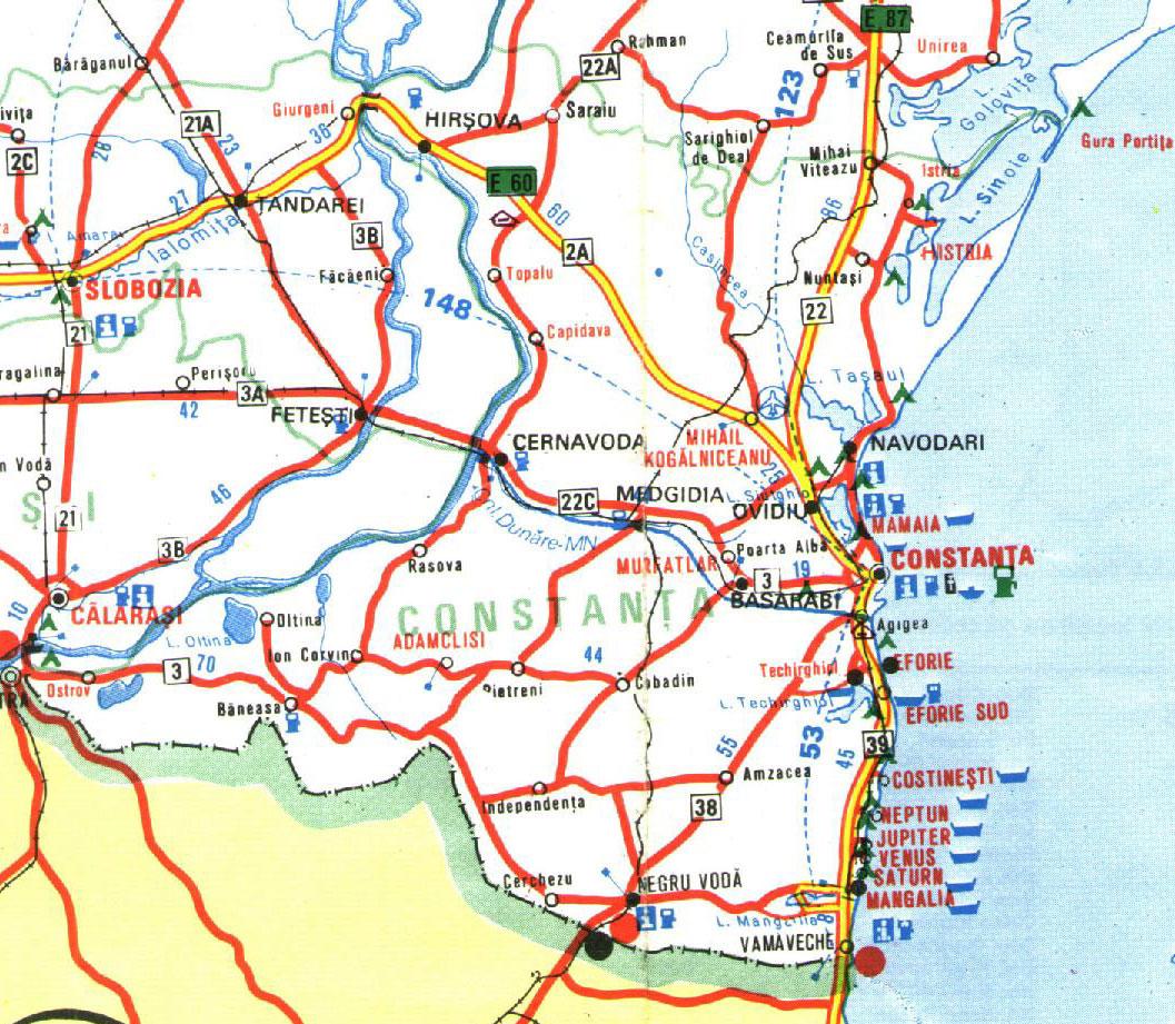 Constanta Tourist Map Constanta Mappery