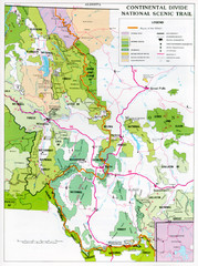 Continental Divide Scenic Trail Map