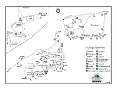 Coolidge State Park Campground Map