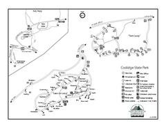 Bear Creek Mountain Club Ski Trail Map Plymouth Vermont 05056