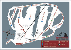 Cooper Spur Ski Area Ski Trail Map
