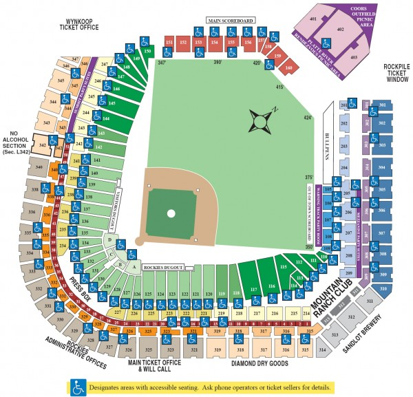 Coors Field Seating Chart Map