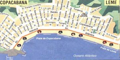 Copacabana-Leme Map