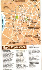 Copacabana Tourist Map