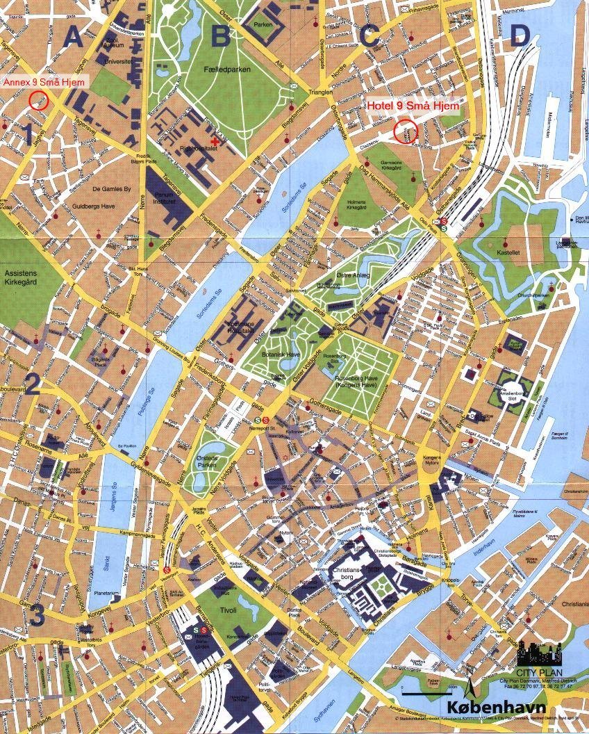 Copenhagen Denmark Tourist Map Copenhagen mappery – Tourist Map Of Copenhagen