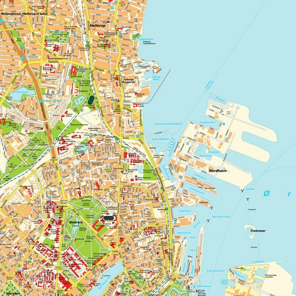 real life map collection mappery – Copenhagen Tourist Attractions Map