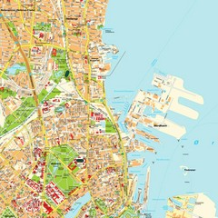 Copenhagen, Denmark Tourist Map