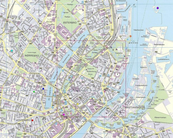Copenhagen Street Map Copenhagen Denmark mappery – Copenhagen Tourist Map