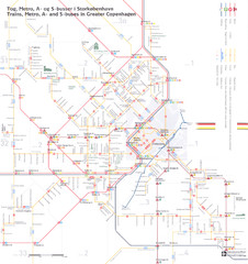 Copenhagen regional transport guide Map