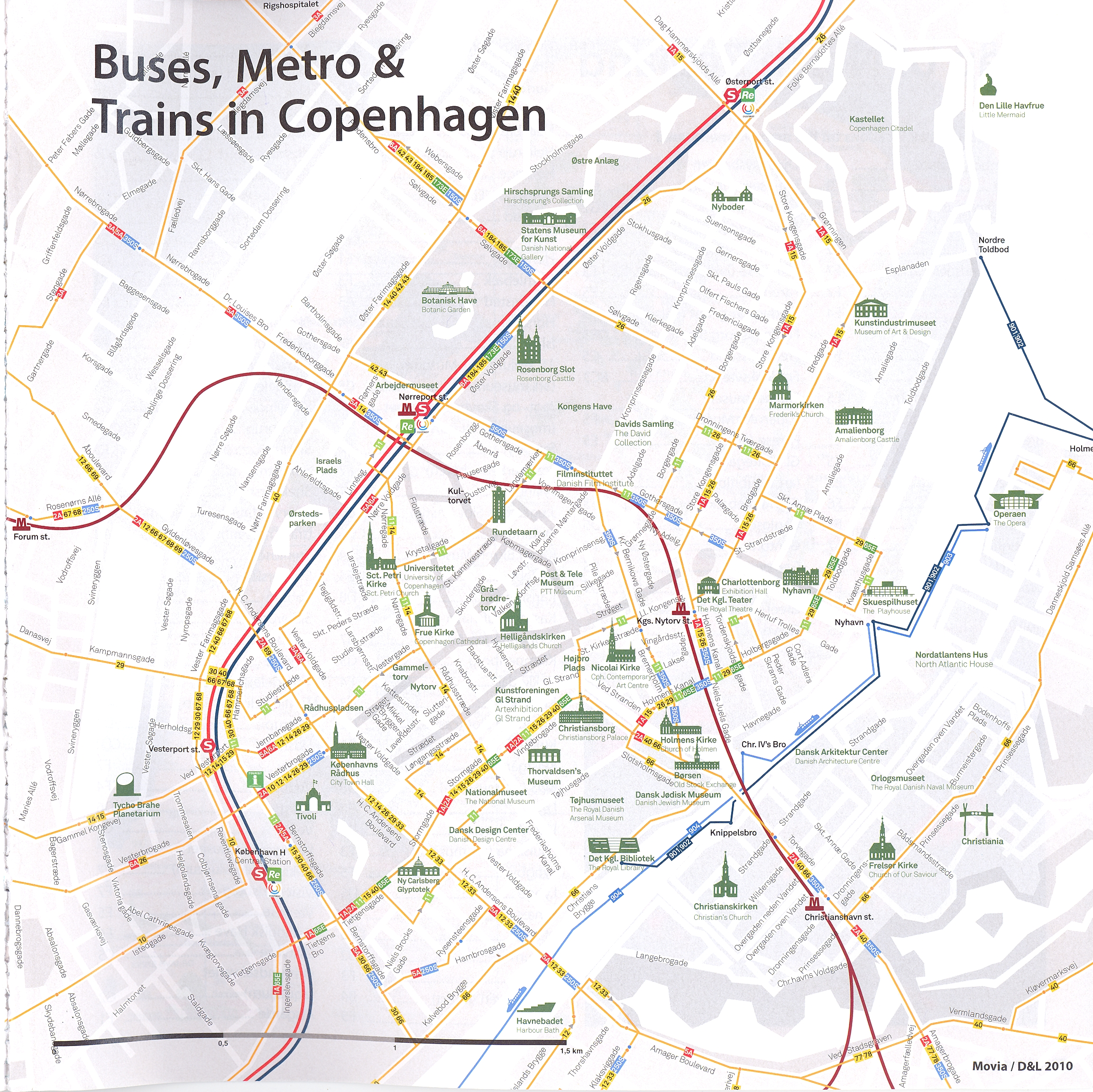 Copenhagen transport Map Copenhagen mappery