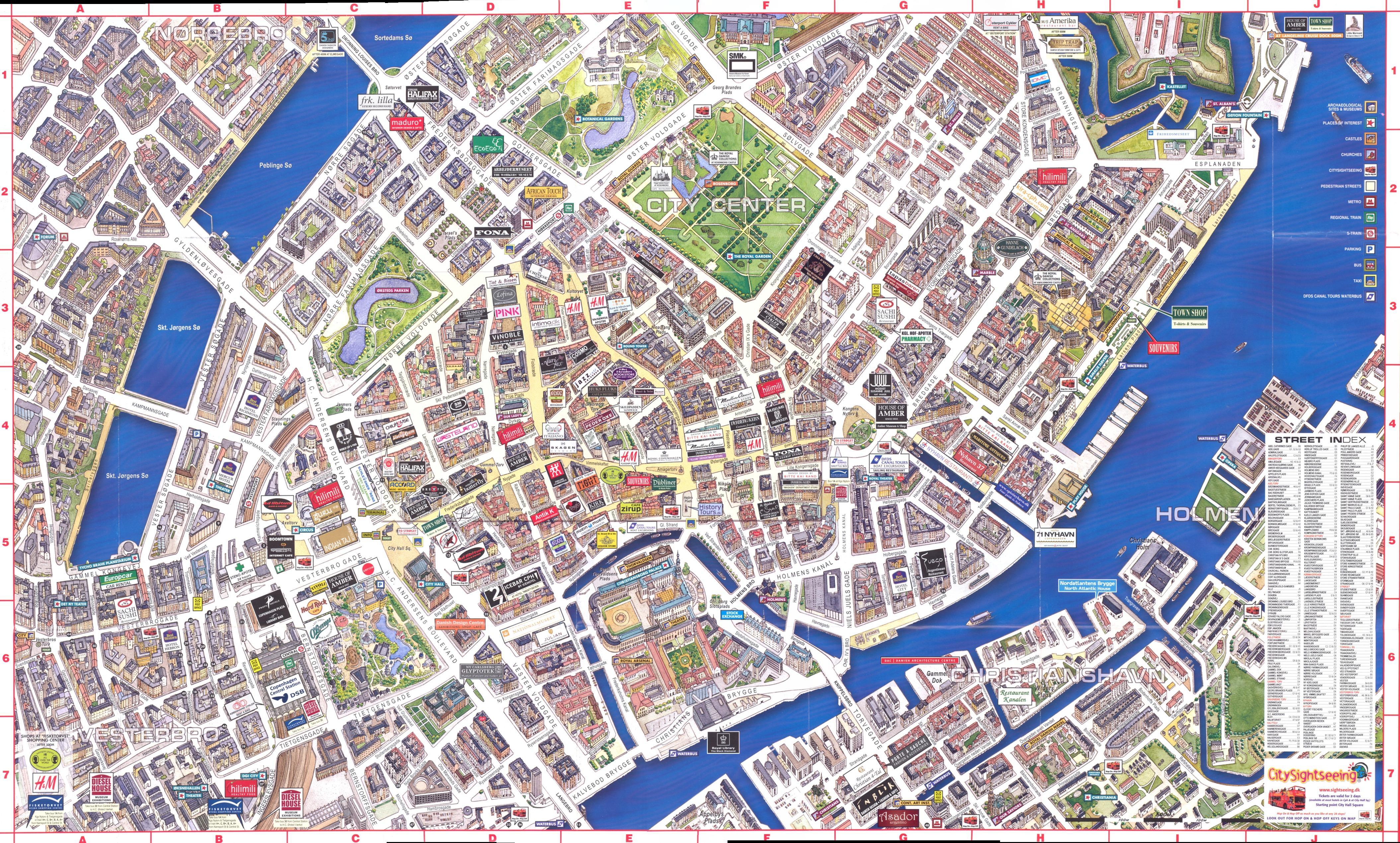 Copenhagen With 3D Buildings Map