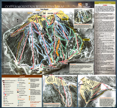Copper Mountain Resort Ski Trail Map