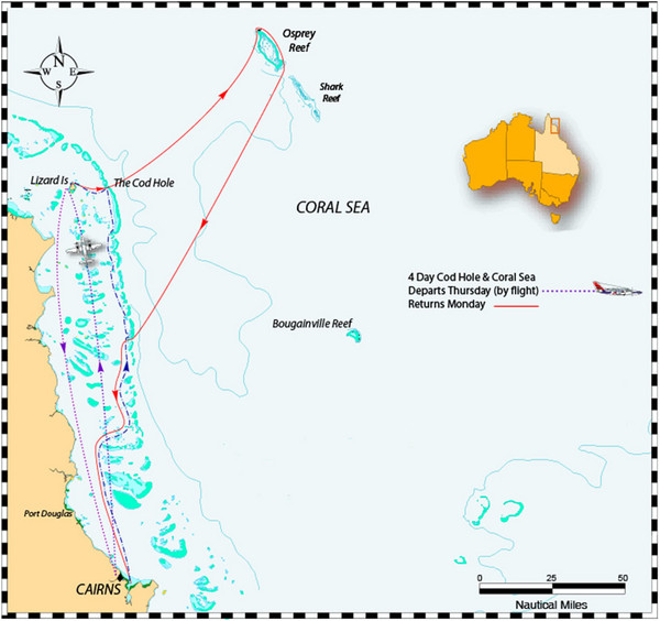 Coral Sea Map Coral Sea • mappery