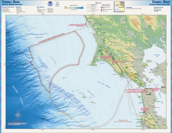 Cordell Bank National Marine Sanctuary Map