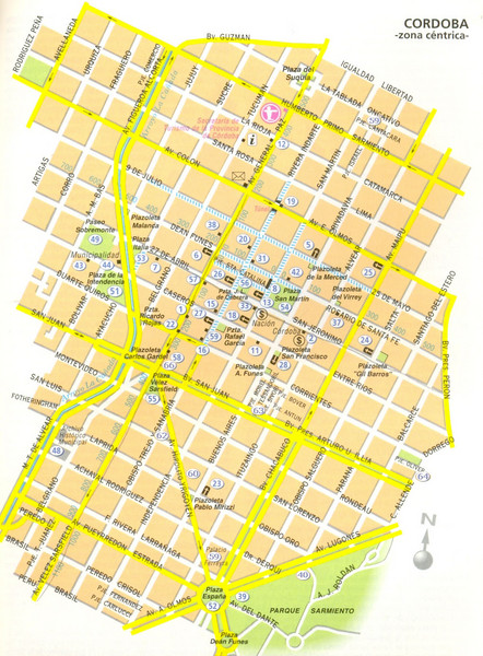 Cordoba City Map