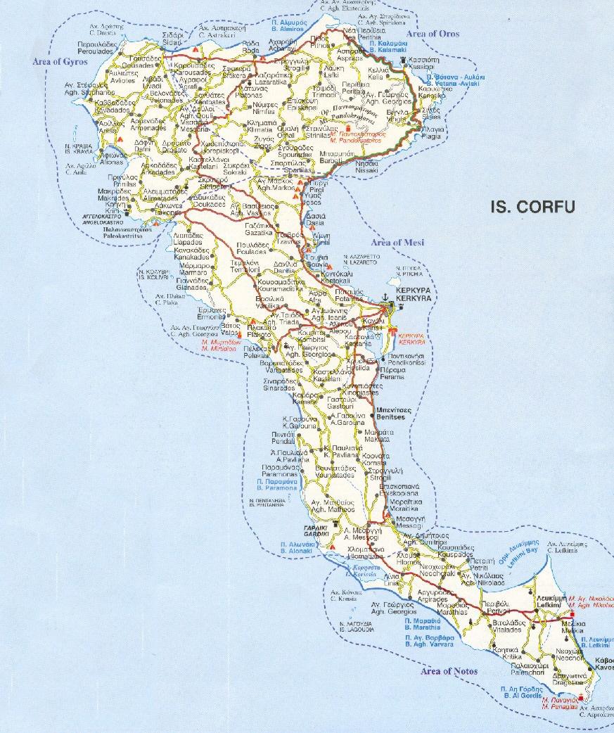 Corfu Guide Map Corfu mappery