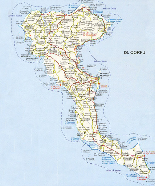 Corfu Guide Map Corfu Mappery