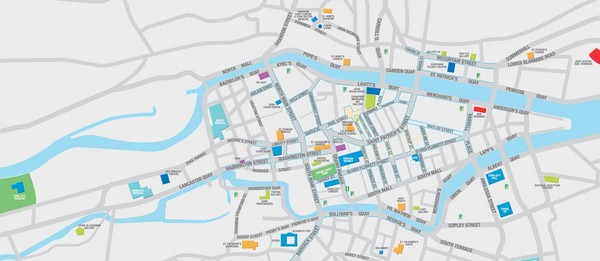 Street Map Of Ireland.Cork City Map Cork City Cork Ireland Mappery