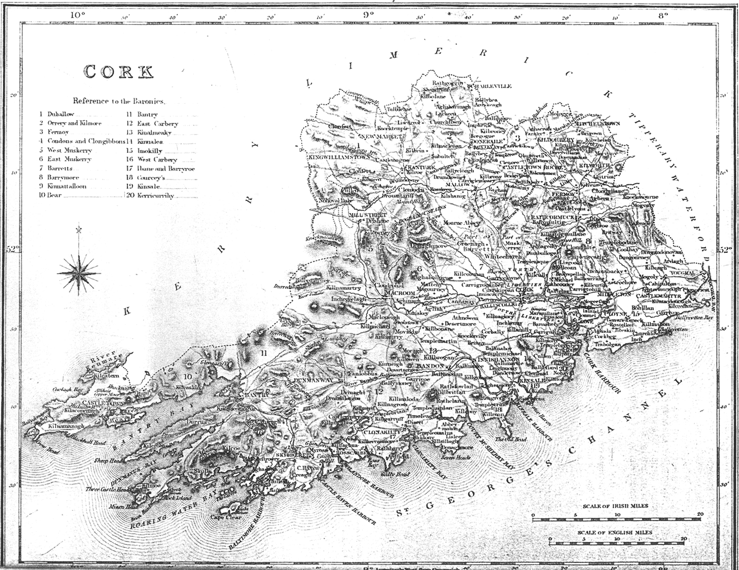 Cork County Map