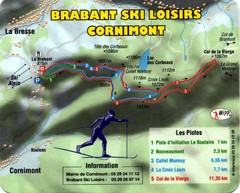 Cornimont Ski Trail Map