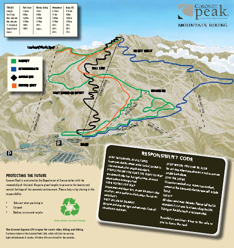 Coronet Peak Mountain Bike Trail Map
