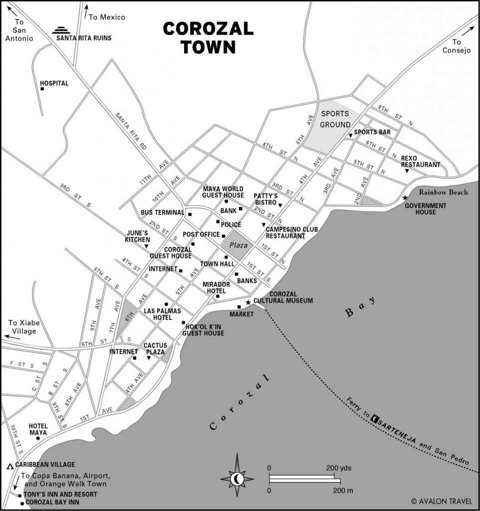 Corozal Town Map Corozal Belize Mappery