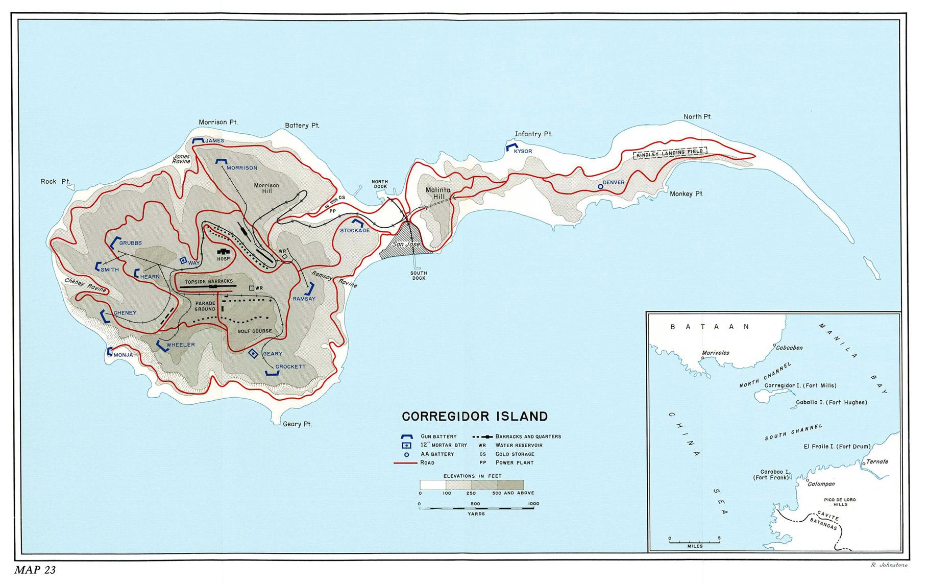 Map Of Corregidor Island Philippines