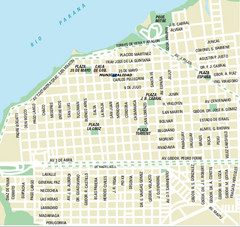 Corrientes City Map
