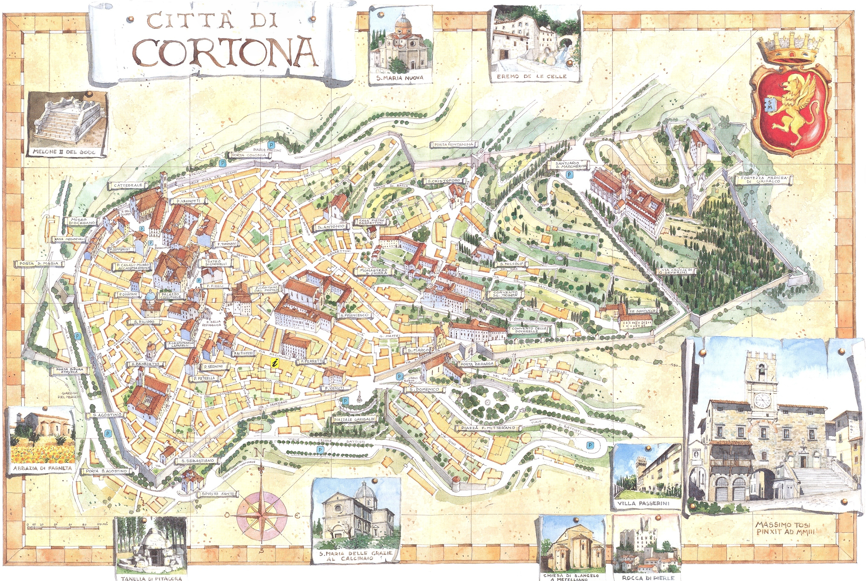 Cortona Map - cortona it • mappery