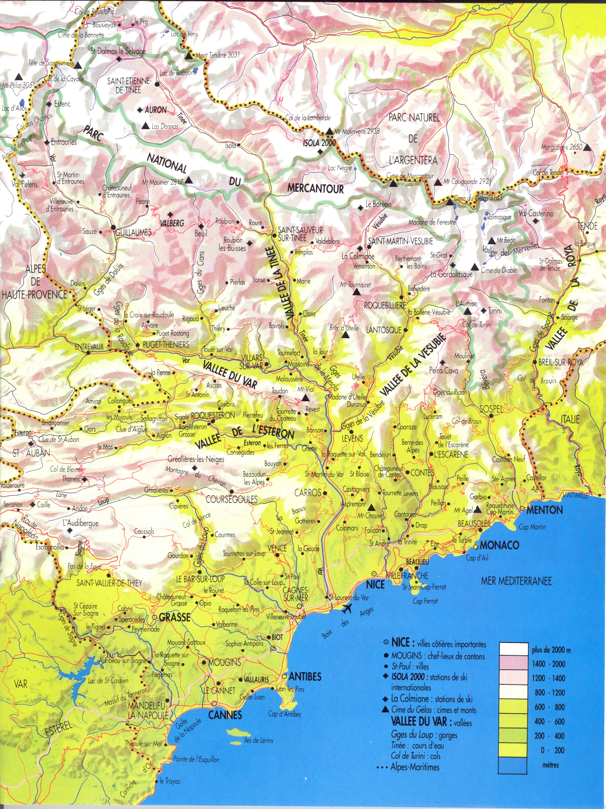 Cotes dAzur  Alpes Maritimes Map  Cotes d039Azur FR  mappery
