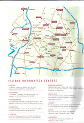Cotswold England Tourist Map