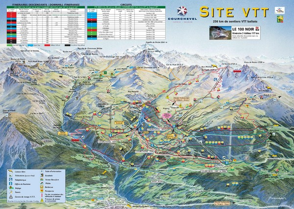 Courchevel Trail Map Savoie France mappery