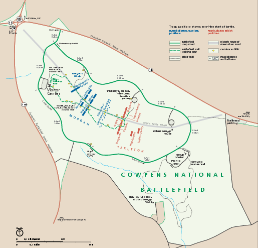 Cowpens National Battlefield Official Map