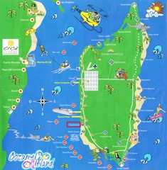 Cozumel Island Tourist Map