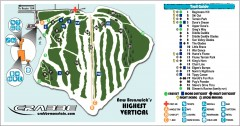 Crabbe Mountain Ski Trail Map